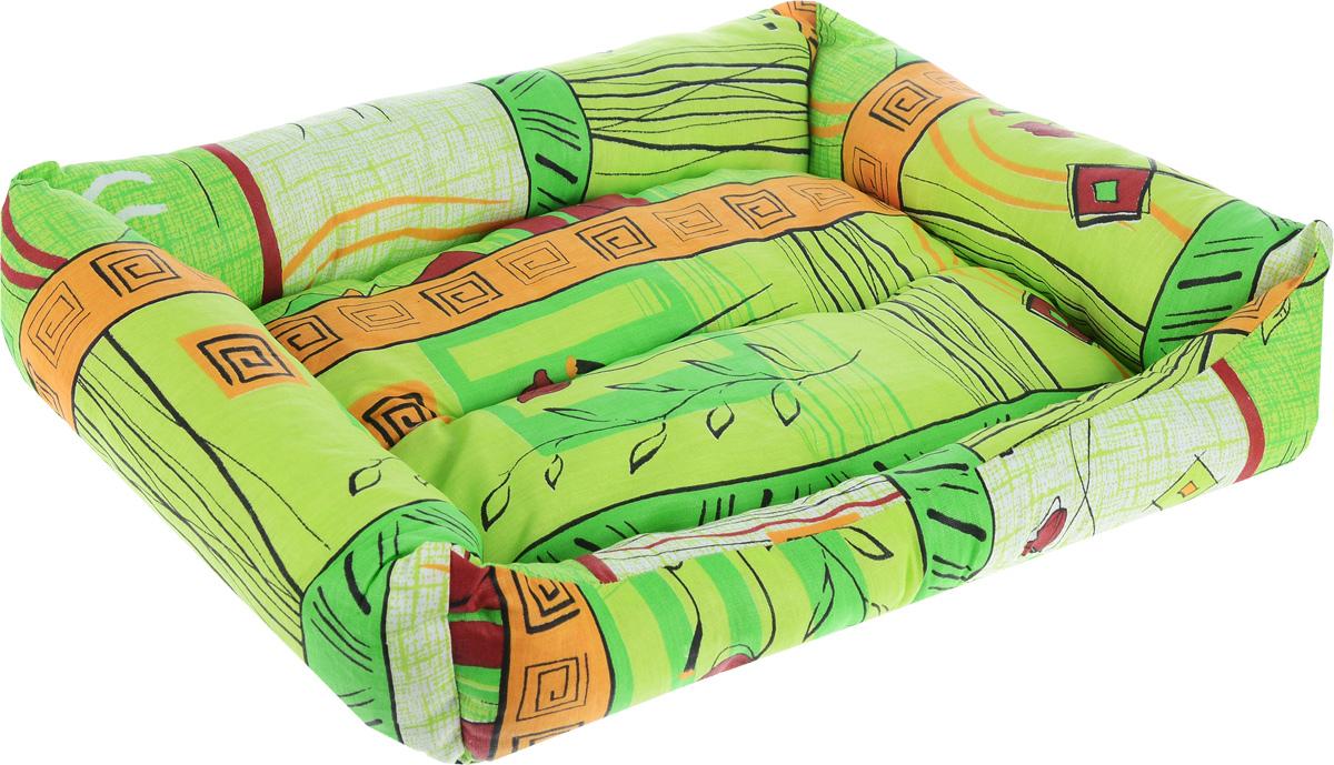 Лежак для животных Elite Valley Пуфик, цвет: светло-зеленый, оранжевый, бордовый, 51 х 38 х 15 смЛ4/3 Лежак Пуфик открытый _ стамбул зеленый материал бязь, холофайберМягкий и уютный лежак Elite Valley Пуфик обязательно понравится вашему питомцу. Он выполнен из высококачественной бязи, а наполнитель - холлофайбер. Такой материал не теряет своей формы долгое время. Борта и встроенный матрас обеспечат вашему любимцу уют. Мягкий лежак станет излюбленным местом вашего питомца, подарит ему спокойный и комфортный сон, а также убережет вашу мебель от многочисленной шерсти.