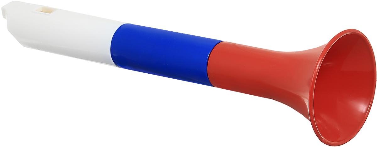 Форма Дудка СпортивнаяС-125-ФДудочка Форма Спортивная великолепно подойдет для занятий музыкальным творчеством. Пластиковая дудка разборная, состоит из трех частей - мундштука, основной части и раструба. Для извлечения звука необходимо с силой подуть в мундштук. Дудка украшена яркой наклейкой с рисунком. Дудочка выполнена из высококачественного безопасного материала. Такой музыкальный инструмент пригодится на стадионе, когда вы будете болеть за любимую команду. Расцветка триколор замечательно подойдет для спортивных мероприятий - игр, соревнований и чемпионатов. Дудочка способствует развитию у ребенка музыкальных способностей, цветового и звукового восприятия, мелкой моторики рук и воображения.