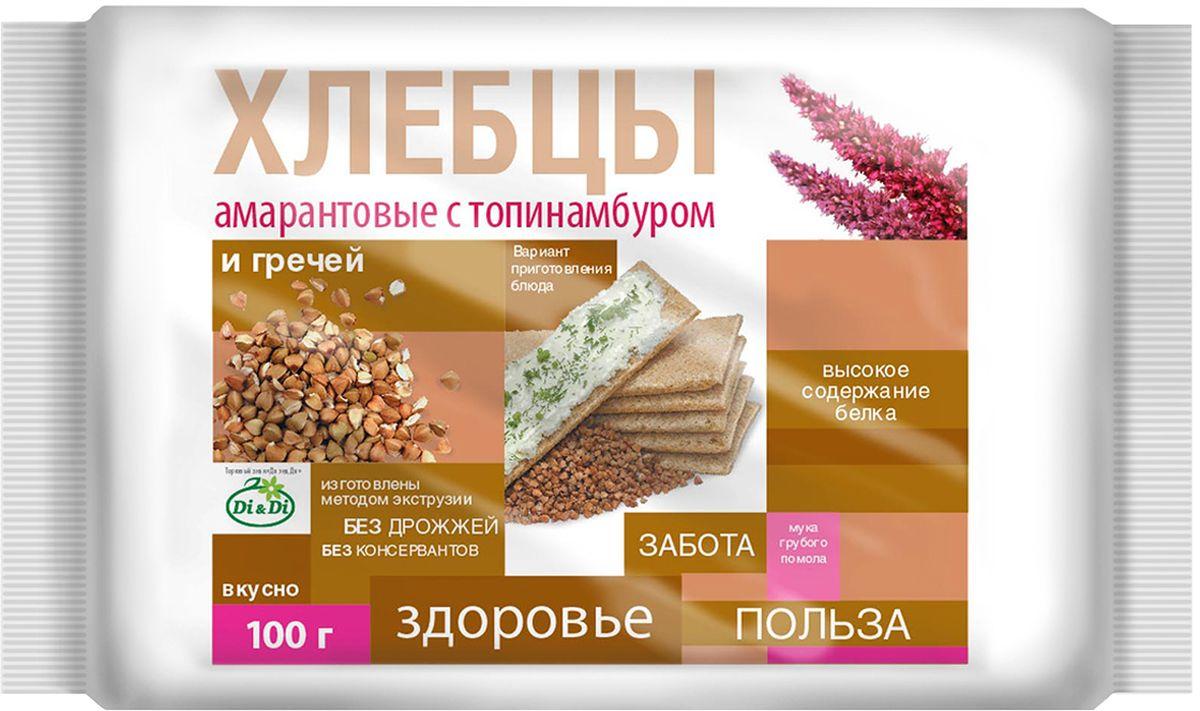 Di&Di хлебцы амарантовые с топинамбуром и гречей, 100 г
