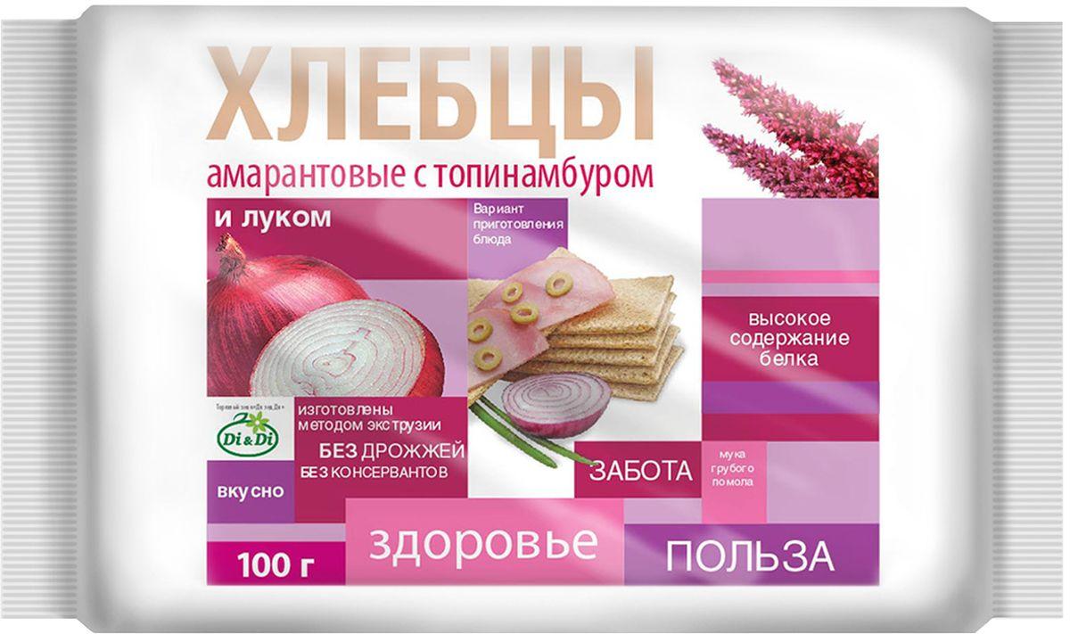 Di&Di хлебцы амарантовые с топинамбуром и луком, 100 г4650061331245Продукт функционального питания. Богат калием, кальцием, магнием, фосфором, железом.
