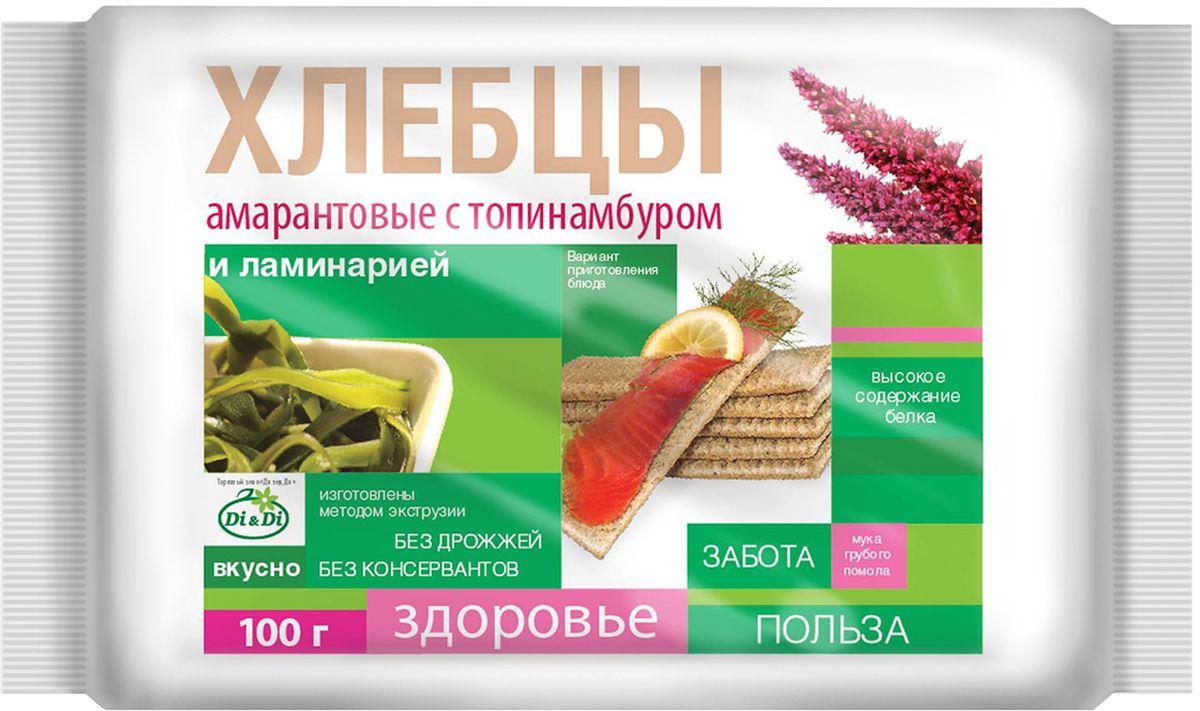 Di&Di хлебцы амарантовые с топинамбуром и ламинарией, 100 г