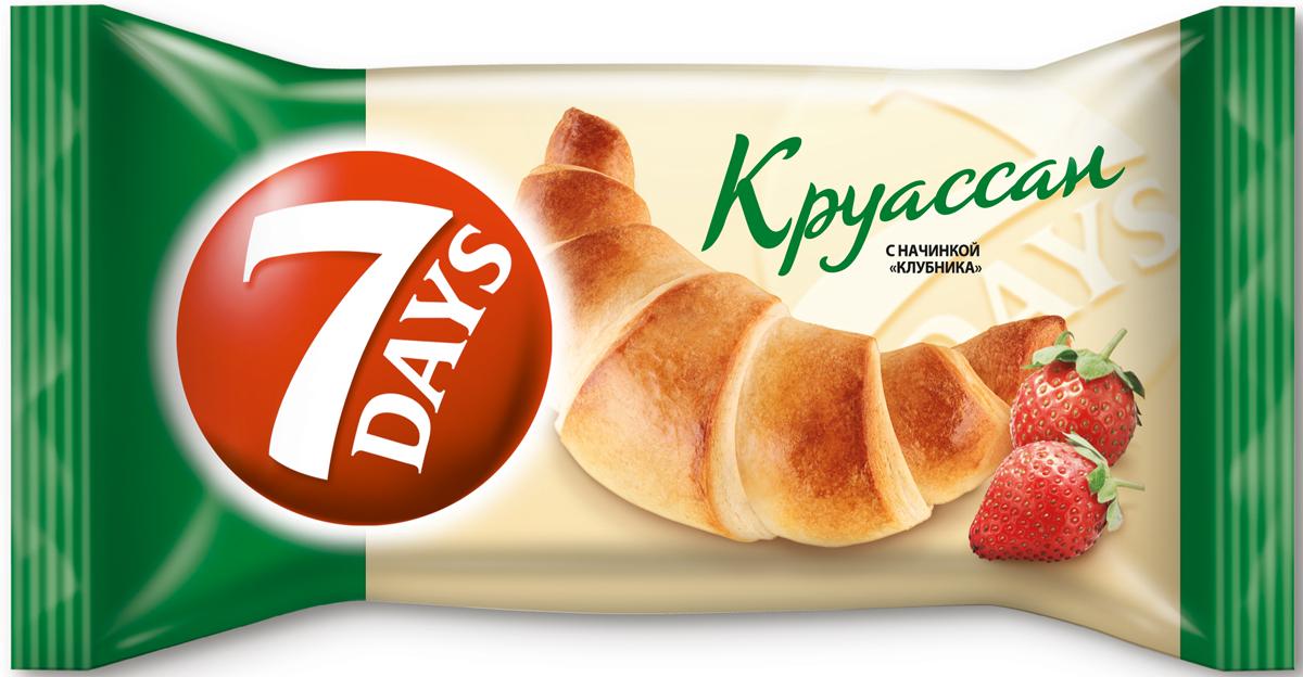7 Days Круассан с начинкой Клубника, 65 г