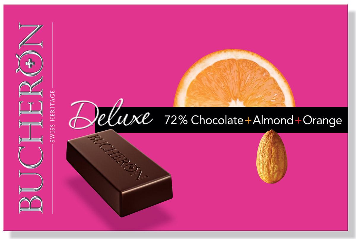 Bucheron Deluxe горький шоколад с миндалем и апельсином, 95 г 14.3950