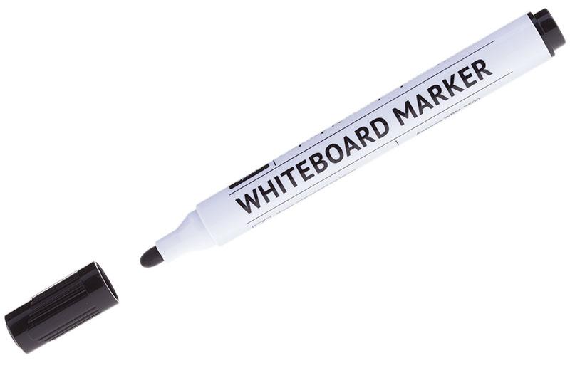 OfficeSpace Маркер для доски цвет черныйWBM_9500Маркер OfficeSpace предназначен для письма на магнитно-маркерных досках. Имеет закругленный пишущий узел. Толщина линии - 2,5 мм. Чернила на спиртовой основе легко стираются сухой губкой для досок. Хранить с закрытым колпачком.