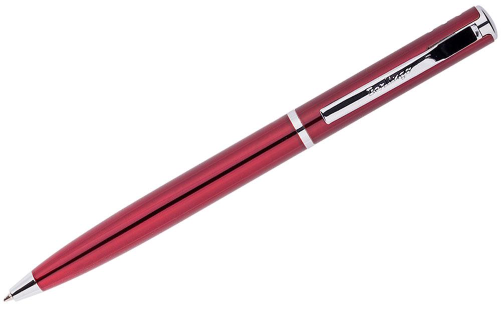 Berlingo Ручка шариковая Silver Standard цвет корпуса бордовыйCPs_70423Элегантная автоматическая шариковая ручка Berlingo Silver Standard с поворотным механизмом имеет оригинальный дизайн зоны клипа. Цвет чернил - синий. Подходит для нанесения логотипа. Ручка упакована в индивидуальный пластиковый футляр.