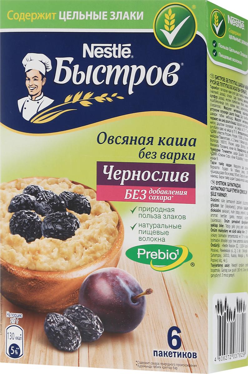 Быстров Prebio Чернослив каша овсяная, 6 пакетиков по 37 г