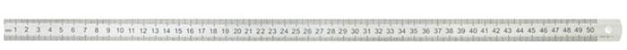 ArtSpace Линейка 50 смЛС-50-527Школьная металлическая линейка длиной 50 см ArtSpace предназначена для измерения расстояний и черчения отрезков. Шкала с двух сторон. Имеет отверстие для подвешивания. Прочная и упругая линейка незаменима на уроках геометрии и черчении. Линейка упакована в удобный прозрачный ПВХ чехол для хранения и переноса.