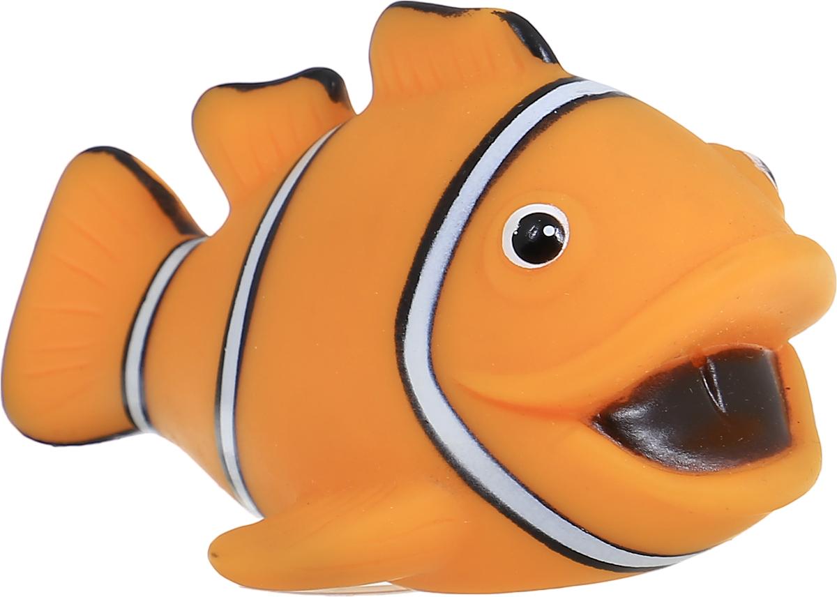 Затейники Игрушка для ванной Водный мир Рыбка цвет оранжевыйGT2783_оранжевая рыбкаИгрушка-пищалка для ванной Затейники Водный мир понравится вашему ребенку и развлечет его во время купания. Она выполнена из безопасного материала в виде забавной рыбки. Размер игрушки идеален для маленьких ручек малыша. Если сжать ее во время купания в ванне, игрушка начинает забавно брызгаться водой, а также издает писк. Игрушка для ванны способствует развитию воображения, цветового восприятия, тактильных ощущений и мелкой моторики рук.