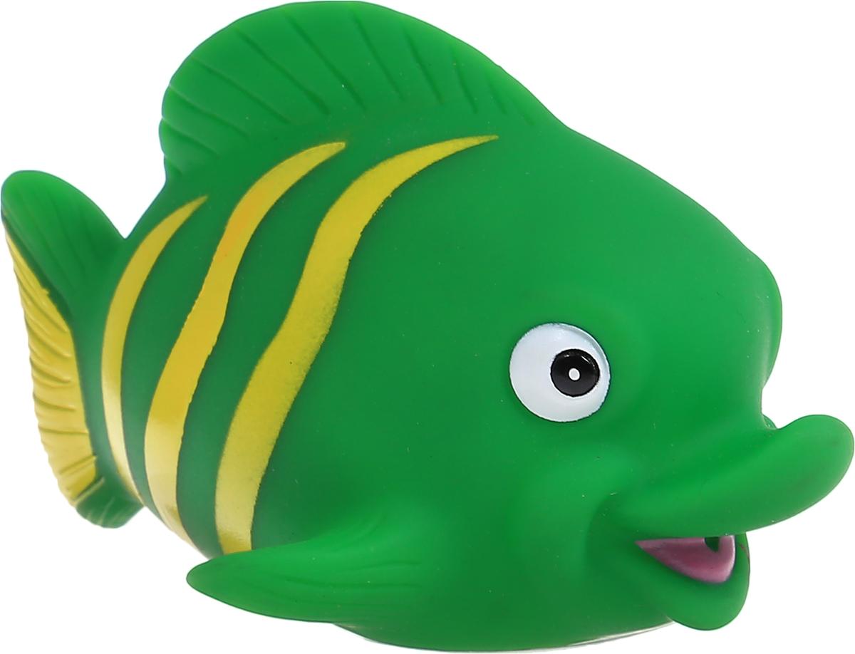 Затейники Игрушка для ванной Водный мир Рыбка цвет зеленыйGT2783_зеленая рыбкаИгрушка-пищалка для ванной Затейники Водный мир понравится вашему ребенку и развлечет его во время купания. Она выполнена из безопасного материала в виде забавной рыбки. Размер игрушки идеален для маленьких ручек малыша. Если сжать ее во время купания в ванне, игрушка начинает забавно брызгаться водой, а также издает писк. Игрушка для ванны способствует развитию воображения, цветового восприятия, тактильных ощущений и мелкой моторики рук.