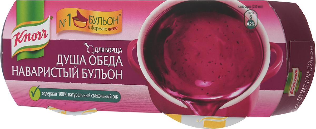 Knorr Душа обеда наваристый овощной бульон для борща, 56 г65415467Признак хорошего борща - насыщенный красный цвет и сбалансированный вкус. Сок отборной свеклы для сладости и красного цвета и высококачественные помидоры для кислинки долго томились с овощами и создали великолепную основу для борща в желеобразной форме. Knorr Душа обеда прекрасно подходит не только для приготовления супов, но и для вторых блюд и гарниров! Knorr раскрывает секреты - если вы добавите желе для борща при заготовке капусты на зиму, то получите вкуснейшую квашеную капусту по-грузински. Уважаемые клиенты! Обращаем ваше внимание, что полный перечень состава продукта представлен на дополнительном изображении.