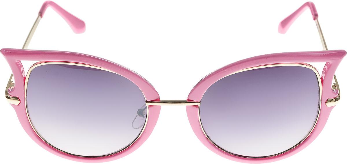 Очки солнцезащитные женские Kawaii Factory Corners, цвет: Розовый. KW010-000206KW010-000206Салфетка для очков и чехол в комплекте.