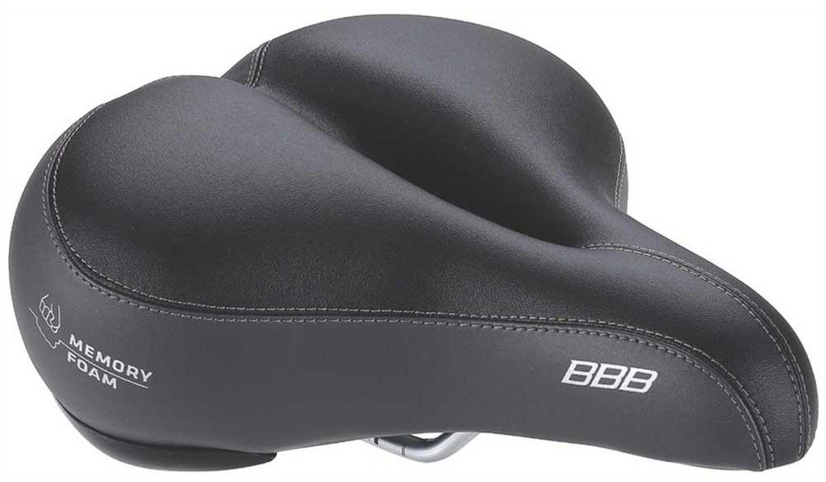 Седло велосипедное BBB SoftShape Memory Foam Anatomic, цвет: черныйBSD-24Для комфортной езды. Ультра мягкая пена. Анатомический дизайн. Верх из синтетической кожи. Высококачественная прошивка. Полированная рамка.