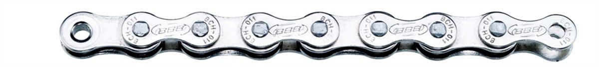 Цепь велосипедная BBB SingleLine Single Speed CP, цвет: серебристыйBCH-011Цепь для односкоростной трансмиссии, или для планетарной втулки. 114 звеньев. Цвет - Никелированный. Вес: 397 грамм. Замок цепи: SmartLink (BCH-01S).