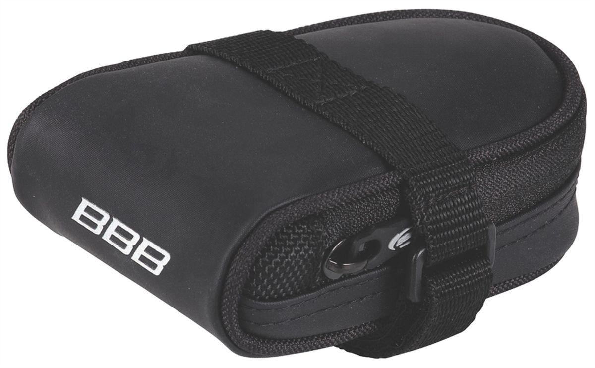 Велосумка под седло BBB RacePack, цвет: черныйBSB-14Компактная подседельная сумка для крепления непосредственно к седлу. Удобная система крепежных ремней для надёжной фиксации. Продуманный дизайн - едва заметна на велосипеде, но достаточно вместительная, чтобы в ней разместились шоссейная камера и монтажки. Объём - 160см3.