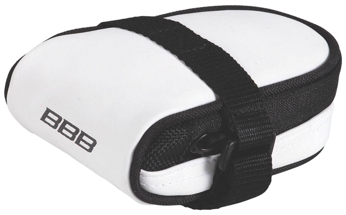 Велосумка под седло BBB RacePack, цвет: белыйBSB-14Компактная подседельная сумка для крепления непосредственно к седлу. Удобная система крепежных ремней для надёжной фиксации. Продуманный дизайн - едва заметна на велосипеде, но достаточно вместительная, чтобы в ней разместились шоссейная камера и монтажки. Объём - 160см3.