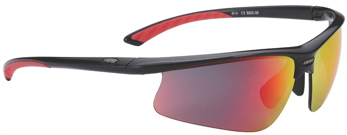 Очки солнцезащитные BBB Winner PC Smoke Red MLC Lens Red Tips, цвет: черныйBSG-39Спортивные очки со сменными поликарбонатными линзами. Форма линз обеспечивает защиту от солнца, пыли и ветра. 100% защита от ультрафиолета. Высокотехнологичная оправа из материала Grilamid с настраиваемой резиновой переносицей. Мягкие кончики дужек для жёсткой посадки и комфорта одновременно. Мешочек для хранения в комплекте. В комплекте сменные линзы: жёлтая и прозрачная.