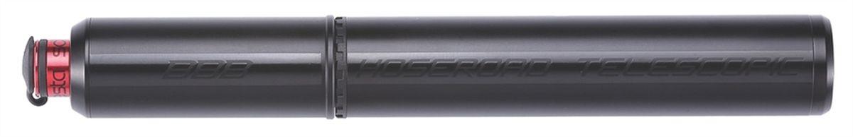 Насос велосипедный BBB HoseRoad Telescopic, ручной, цвет: черный, 190 ммBMP-47Телескопический, легкий из алюминия 6061 T6 мини-насос. ThreadHead головка насоса - Универсальный шланг на ниппели как PRESTA так и Schrader. Извлекаемые шланг делает легким доступ к ниппелям Presta или Schrader. Крышки на шланге оставляет чистым клапан. Компактный дизайн с высокой интенсивностью накачки. Монтажный кронштейн в комплекте. Надувает до 8 бар / 115 psi. Длина: 190 мм. Вес: 120 грамм. Цвет: черный матовый