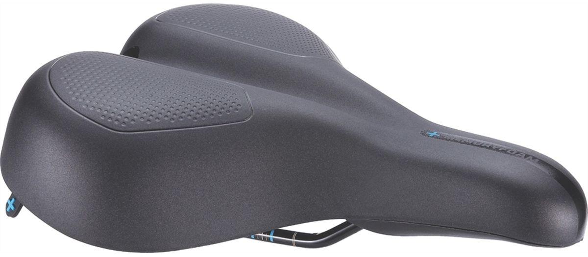 Седло велосипедное BBB ComfortPlus Ergonomic Memory Foam Steel Rail, цвет: черный, 21 х 27 смBSD-101Седло ComfortPlus - создано для всех велосипедистов, которые хотят забыть о том, что такое натёртости при спокойной езде. Анатомический вырез и заниженный нос обеспечивают равномерное распределение давления в чувствительных областях. Подкладка из пены тройной плотности с эффектом памяти принимает форму тела гарантирует исключительный комфорт. Седло для городских велосипедов и расслабленного катания. Анатомический вырез и заниженный нос седла для снятия напряжений с критических областей и таза. Размер: 210 х 265 мм (Ш х Д). Подходит как для мужчин, так и для женщин. Вес: 510 грамм. Прочные рельсы со шкалой для точной регулировки. Полипропиленовый каркас. Пена тройной плотности: высокоплотное основание Superlight и мягкая пена с эффектом памяти в верхнем слое. Прочное синтетическое покрытие. Водонепроницаемое. Цвет: чёрный.