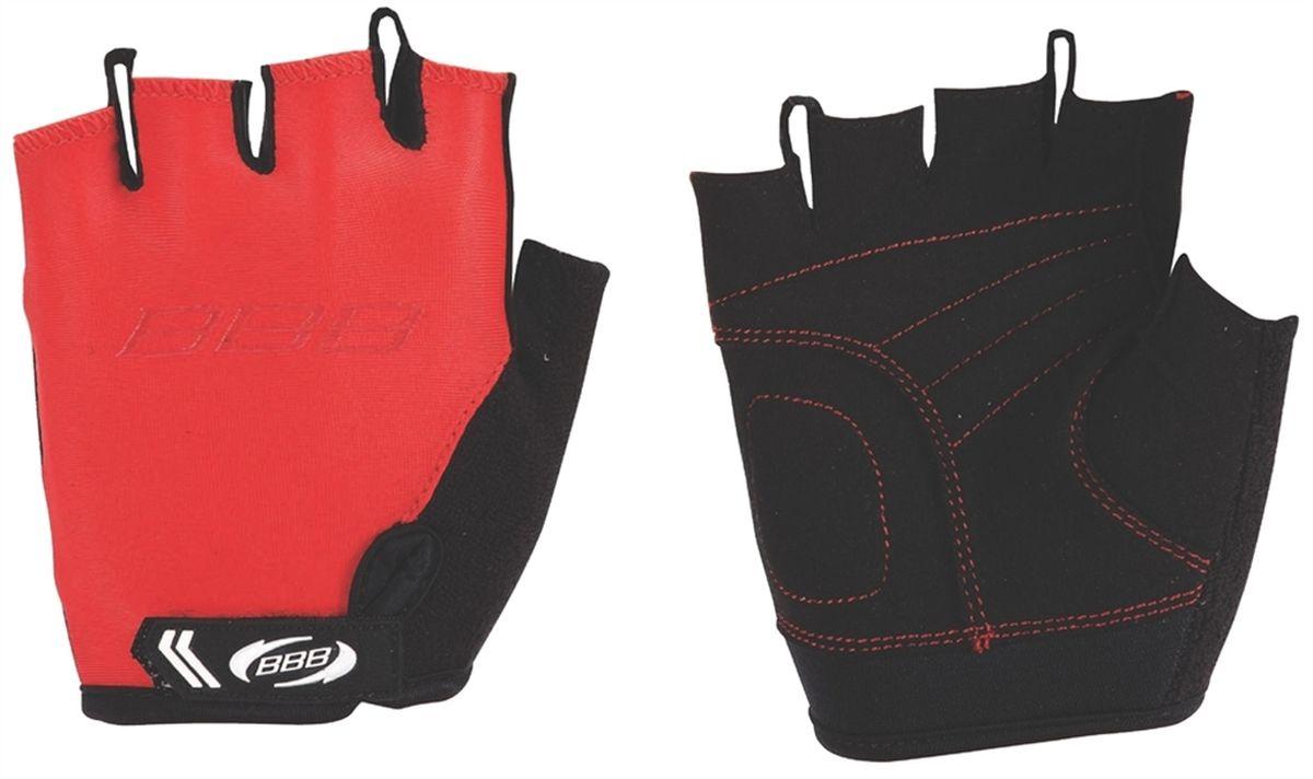 Перчатки детские велосипедные BBB Kids, цвет: красный, черный. BBW-45. Размер LBBW-45Перчатки BBB Kids разработаны специально для детских рук. Дышащий верхний слой выполнен из эластичной лайкры. Ладонь изготовлена из материала Amara с дополнительной подкладкой из вспененного материала. Застежки велкро (Система WristLock) надежно фиксируют перчатки на руке. Петли между пальцами обеспечивают легкое снимание перчаток.