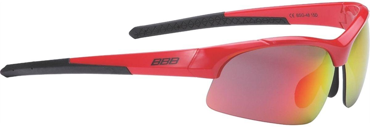 Очки солнцезащитные BBB Impress Small PC Smoke Red Lenses, цвет: красныйBSG-48Специальная версия очков для людей с меньшим размером головы. Спортивные очки современного стиля в легкой оправе. Сменные поликарбонатные линзы. Форма линз обеспечивает защиту от солнца, пыли и ветра. 100% защита от ультрафиолета. Поликарбонатная оправа с регулируемой переносицей. Мешочек для хранения в комплекте. Дополнительные линзы в комплекте: желтая и прозрачная.