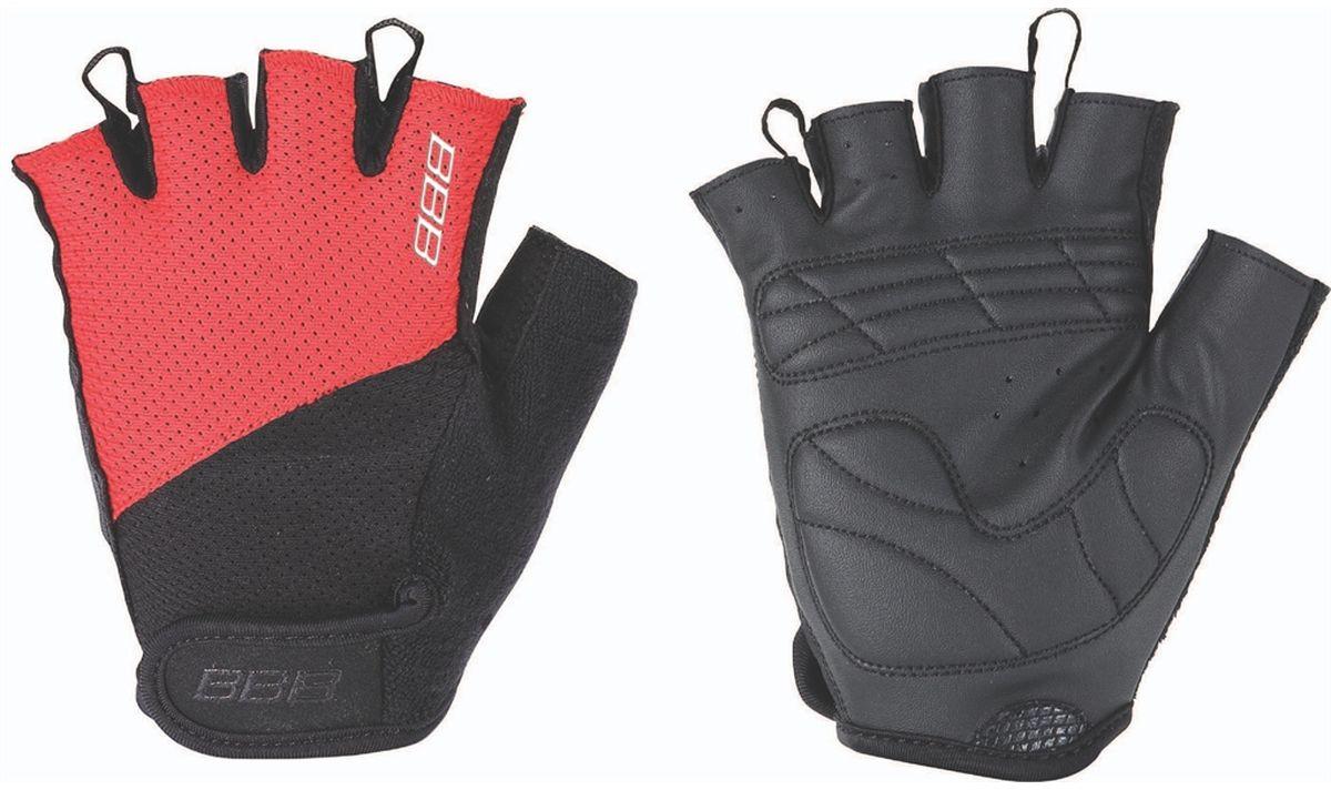 Перчатки велосипедные BBB Chase, цвет: черный, красный. BBW-49. Размер MBBW-49Комфортные летние перчатки. Максимальная вентиляция за счет тыльной стороны перчаток из сетчатого материала. Ладонь из материала Serino с гелевыми вставками для большего комфорта. Застежки велькро (Система WristLock). Вставка для удаления влаги/пота.