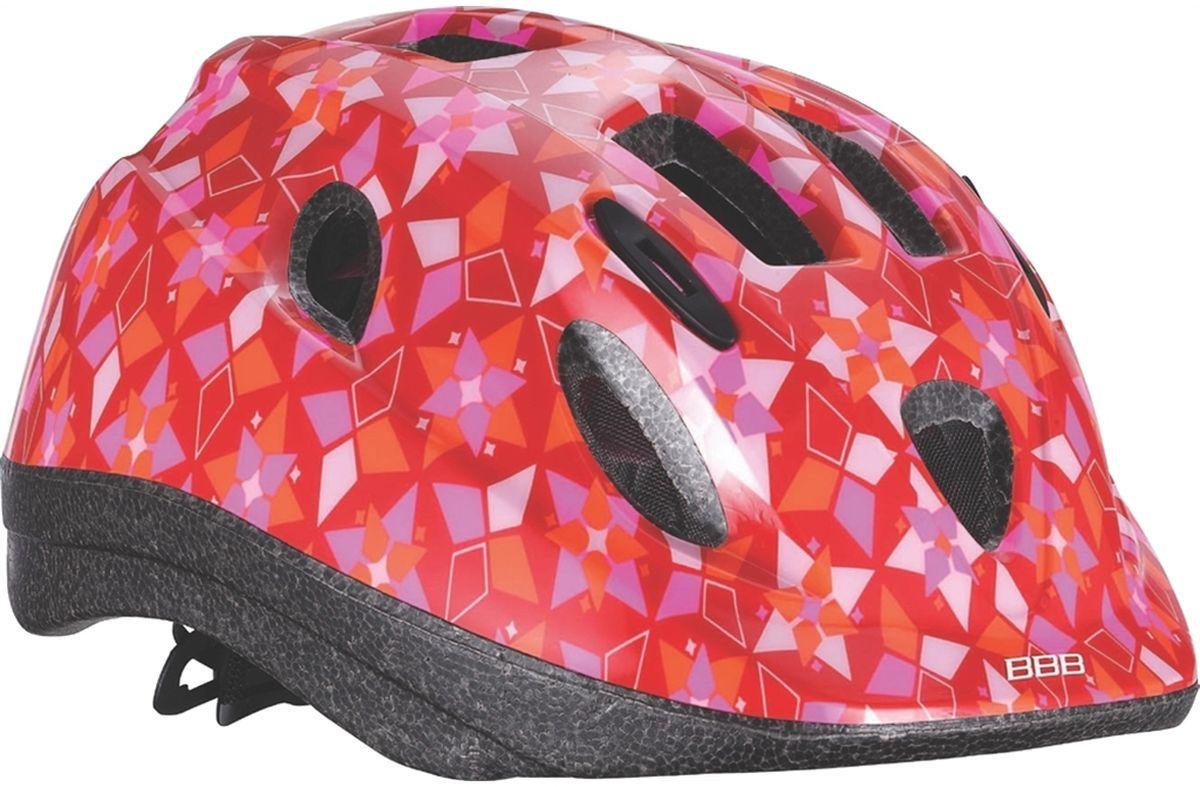 Летний шлем BBB Boogy sweet. BHE-37. Размер S (48-54 см)BHE-37Легкий и надежный велосипедный шлем для детей. 12 вентиляционных отверстий. Защитная сетка от насекомых. Регулируемые ремни для идеальной посадки. Удобная регулировка TwistClose системы, можно регулировать одной рукой. Моющиеся антибактериальные колодки. Светоотражающие элементы сзади.