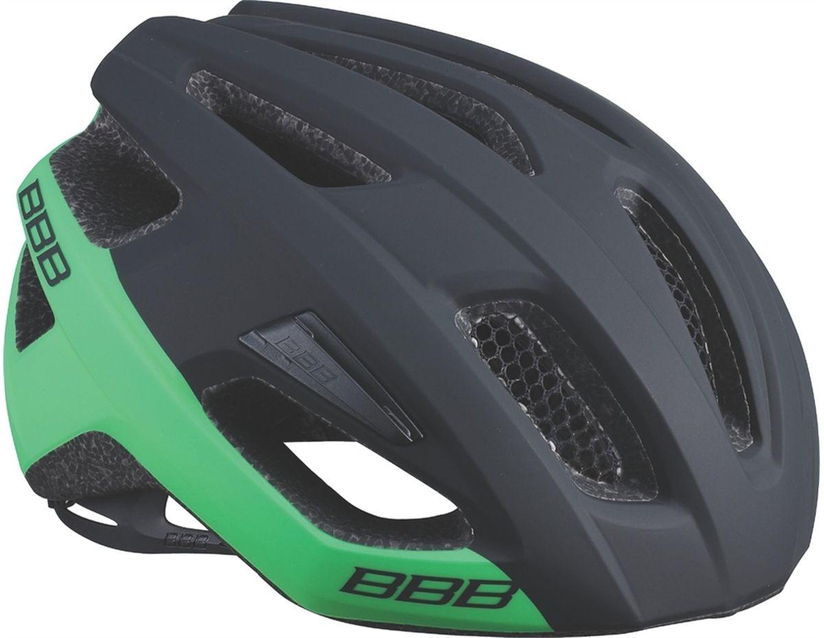 Шлем летний BBB Kite, цвет: черный, зеленый. Размер MBHE-29Если вы в поисках по-настоящему универсального шлема, то Kite - именно то, что нужно. Продуманная конструкция со съёмным козырьком предельно функциональна. Катаетесь ли вы по шоссе, или по трейлам - с Kite вы всегда в безопасности. Низкопрофильная конструкция обеспечивает дополнительную защиту наиболее уязвимых участков головы. Поликарбонатная оболочка обеспечивает наилучшую защиту. Основой для комфортной и, при этом, плотной посадки послужила легендарная hi-end модель Icarus. Kite - это наша лучшая разработка, одинаково хорошо подходящая как для шоссе, так и для MTB. Интегрированная конструкция. 14 вентиляционных отверстий. Отверстия для вентиляции в задней части шлема для оптимального распределения потоков воздуха. Сетка для защиты от залетающих в шлем насекомых. Настраиваемые ремешки для максимально комфортной посадки. Простая в использовании система настройки TwistClose. Съёмный козырёк со скрытым креплением. Съемные мягкие...