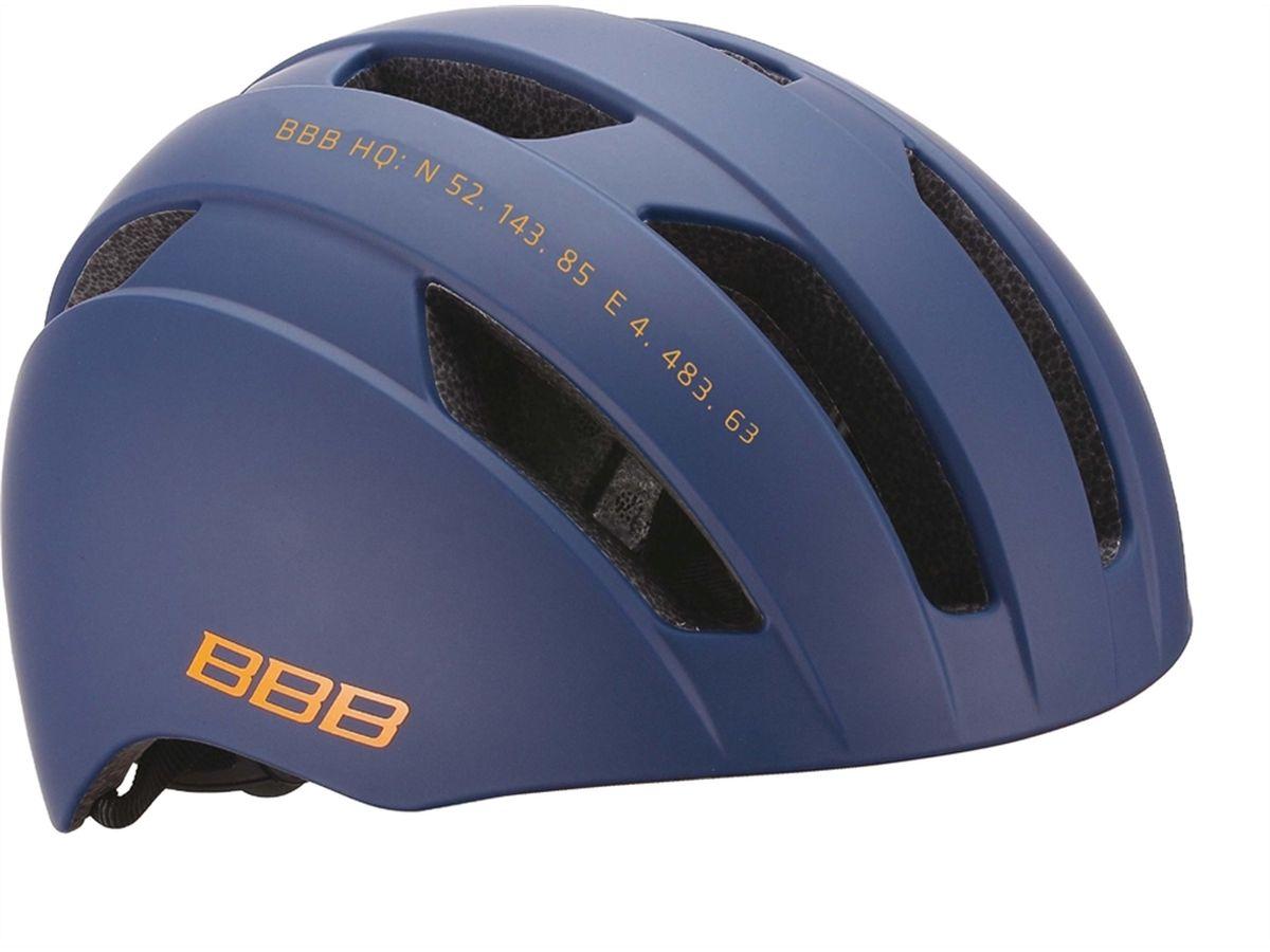 Шлем летний BBB Metro, цвет: синий. Размер LBHE-55Катание по городу тоже требует надёжной защиты, но, само собой, хотелось бы при этом ещё и отлично выглядеть. Шлем Metro с 10 вентиляционными отверстиями сохранит вашу голову в комфорте и безопасности. И выглядит просто отлично. Интегрированная конструкция. 10 вентиляционных отверстий. Отверстия для вентиляции в задней части шлема для оптимального распределения потоков воздуха. Настраиваемые ремешки для максимально комфортной посадки. Простая в использовании система настройки TwistClose, можно настроить шлем одной рукой. Съемные мягкие накладки с антибактериальными свойствами и возможностью стирки. Размер: M (52-58 cм) и L (56-61 cм).