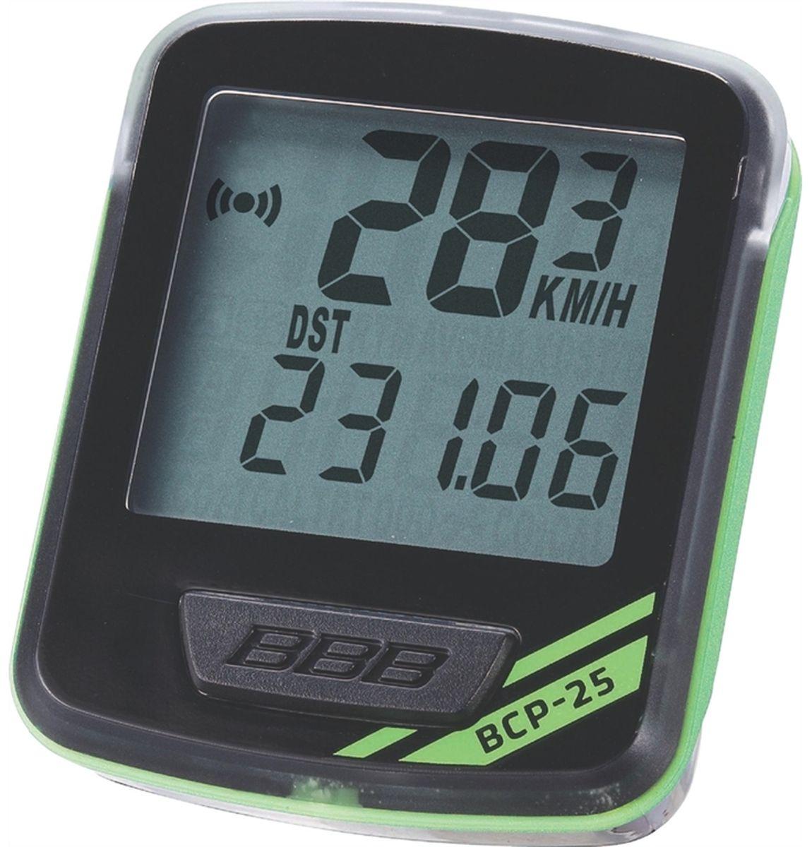 """Велокомпьютер BBB """"NanoBoard"""", 7 функций, цвет: черный, зеленый BCP-25"""