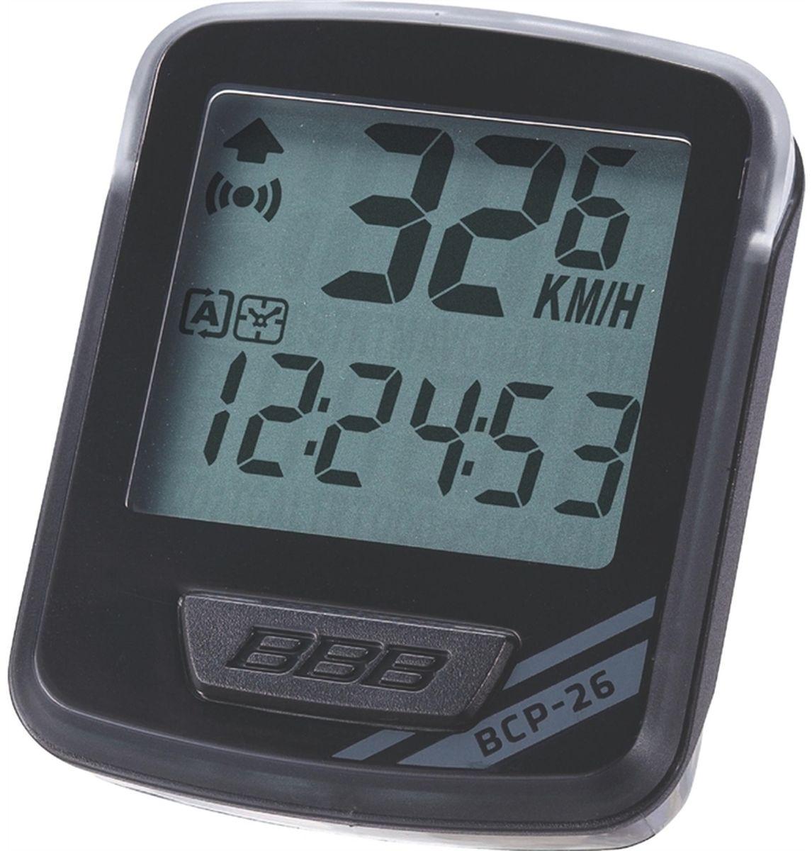 """Велокомпьютер BBB """"NanoBoard """", 12 функций, цвет: черный, серый BCP-26"""