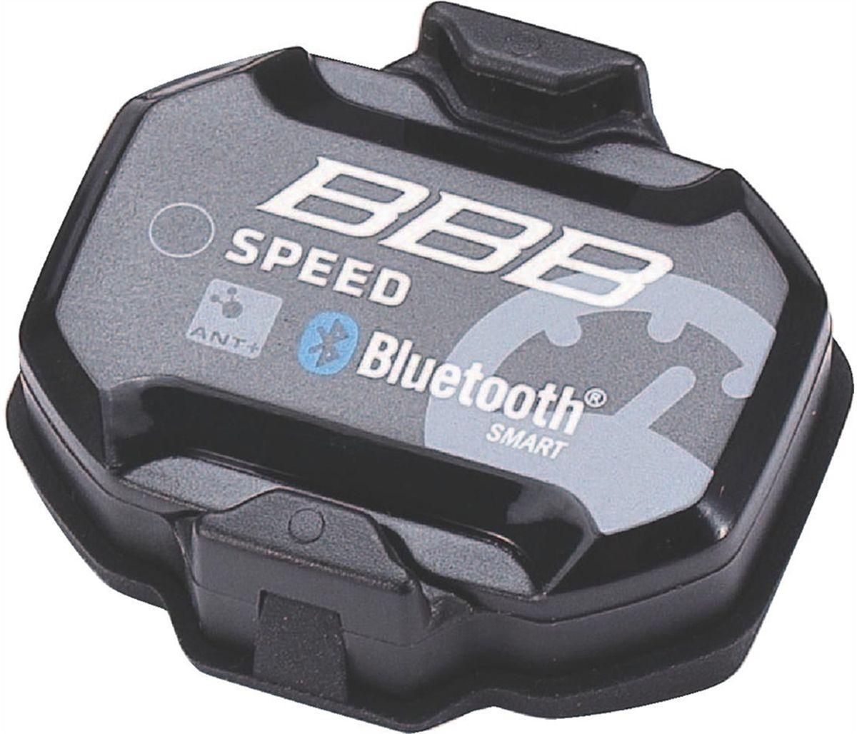 Датчик для велокомпьютера BBB Transmitterset SmartSpeed ANT+ BluetoothBCP-65Очень простой в установке беспроводной двухдиапазонный датчик скорости, работающий без магнитов. Совместим со всеми устройствами, поддерживающих протоколы передачи данных Bluetooth® 4.0 и ANT+. Не требуются какие-либо дополнительные настройки при установке, просто прикрепите на велосипед - и вперёд! Простой в установке, можно легко перестанавливать с велосипеда на велосипед. Датчик пристёгивается к втулке переднего, или заднего колеса. Светодиодный индикатор режима работы.