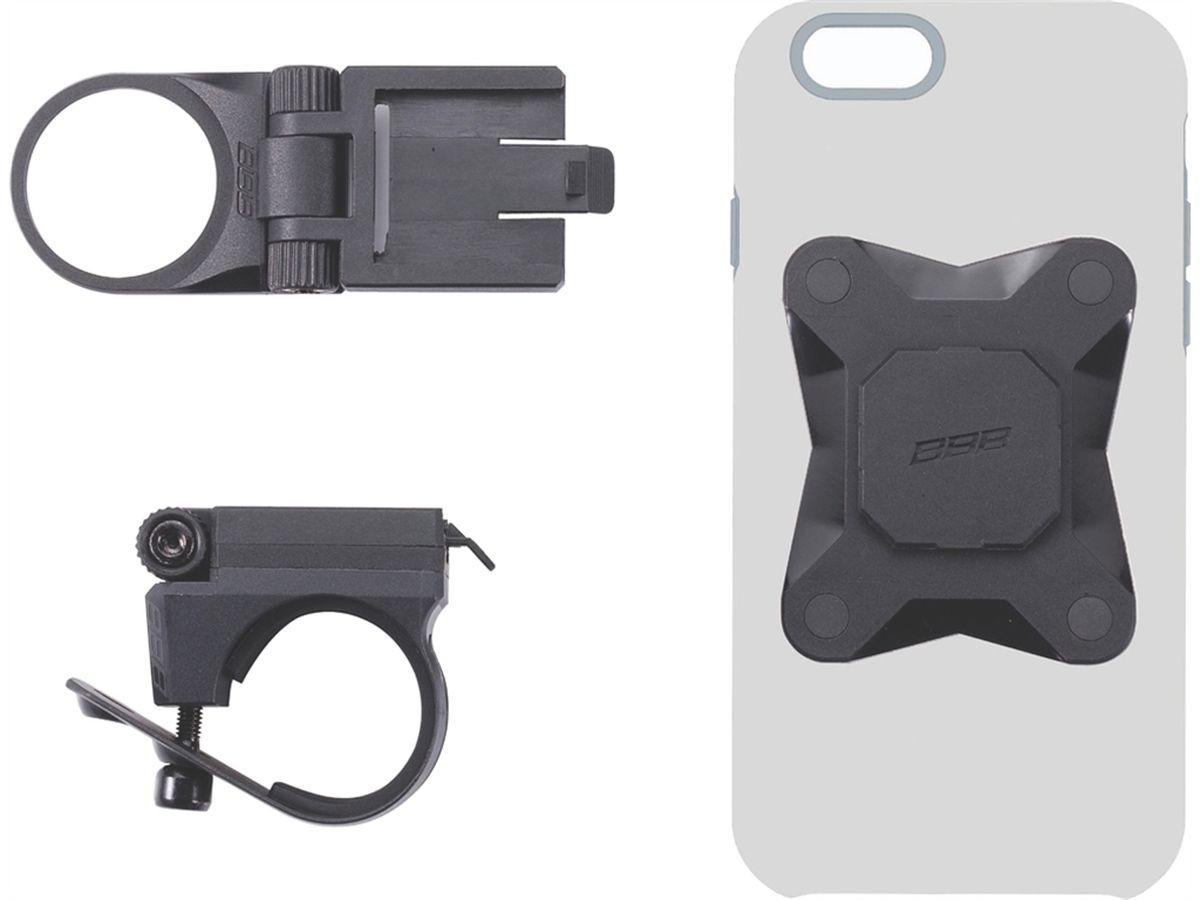 Комплект крепежа для телефона BBB Warden UniversalBSM-41Превратите ваш чехол для смартфона в велосипедное крепление. Простое в установке основание для чехла на клеевом основании 3M™. Подберите наиболее удобный для вас чехол. Это крепление можно приклеить практически любым поверхностям (главное, чтобы они были плоские, достаточно твёрдые и не имели пористую структуру). В комплекте протирка и наждачная бумага для подготовки вашего чехла к закреплению на нём основания. Регулируемый угол для удобства просмотра, или съёмки. Монтируется на выносе и руле с помощью крепежа BSM 91 PhoneFix (в комплекте). Монтируется на крышке рулевой колонки с помощью крепежа BSM 92 SpaceFix (в комплекте). Цвет: чёрный.