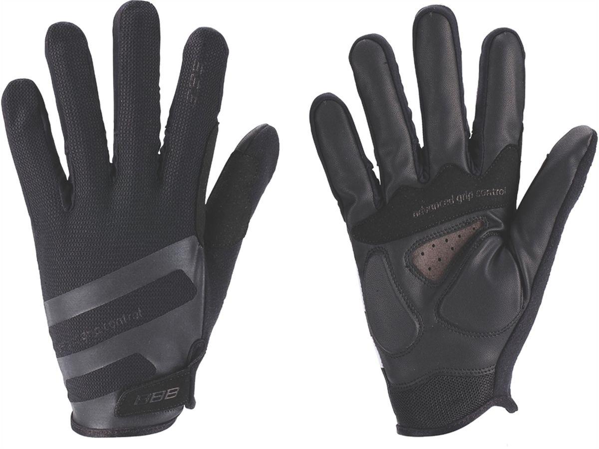 Перчатки велосипедные BBB AirZone, цвет: черный. Размер LBBW-50Когда трейлы накаляются от зноя, Airzone - ваш лучший выбор. Эти XC перчатки с длинными пальцами снабжены тыльной стороной из сетчатого материала и вентилируемой ладонью с полиуретановыми вставками для крепкого хвата. Гелевые вставки предупреждают усталость и защищают при падениях. Большой и указательный пальцы дополнительно защищены материалом Clarino. егкие XC-перчатки для тёплой погоды с длинными пальцами. Тыльная сторона из сетчатого материала Airmesh. Перфорированная ладонь с вставками из PU для надёжного хвата. Гелевые вставки от усталости и защиты при падениях. Защита из материала Clarino на большом и указательном пальцах. Вставка на большом пальце из микрофибры для удаления влаги/пота. Манжета анатомического кроя с застёжкой велькро.