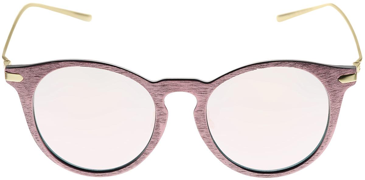 Очки солнцезащитные женские Kawaii Factory Wood, цвет: розовый. KW010-000234KW010-000234Салфетка для очков и чехол в комплекте.