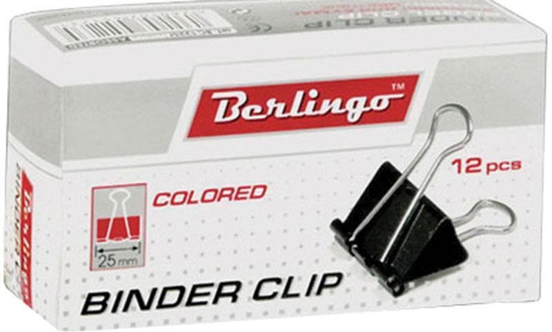 Berlingo Зажим для бумаг ширина 25 мм 12 штBC1225fЗажим для бумагBerlingo предназначен для скрепления бумажных носителей. Зажим выполнен из стали. В упаковке 12 разноцветных зажимов. Они надежно и легко скрепляют, не деформируют бумагу, не оставляют на ней следов.