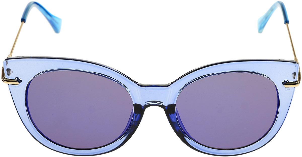 Очки солнцезащитные женские Kawaii Factory Clear, цвет: Голубой. KW010-000226KW010-000226Салфетка для очков и чехол в комплекте.