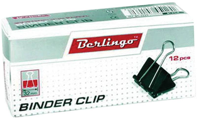 Berlingo Зажим для бумаг ширина 32 мм 12 штBC1232Зажим для бумагBerlingo предназначен для скрепления бумажных носителей. Зажим выполнен из стали. В упаковке 12 зажимов черного цвета. Они надежно и легко скрепляют, не деформируют бумагу, не оставляют на ней следов.
