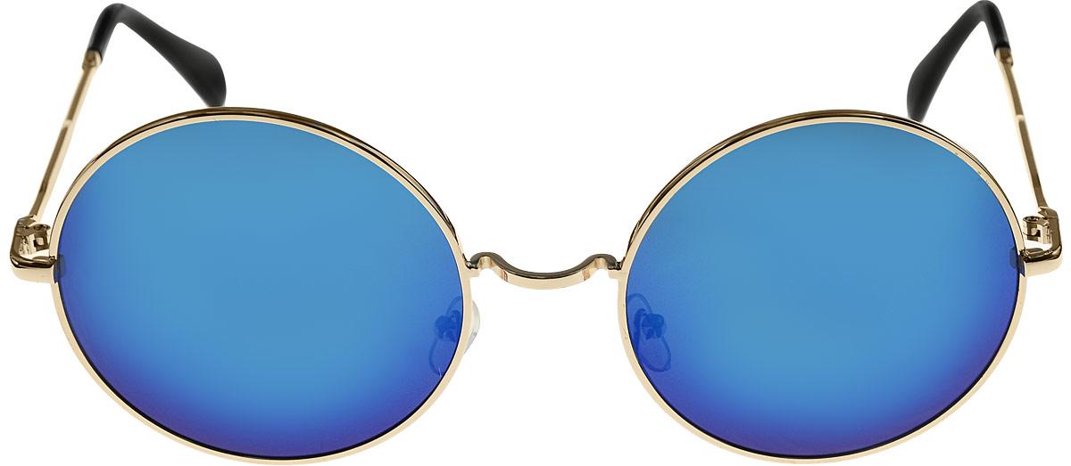 Очки солнцезащитные женские Kawaii Factory Round Mirror, цвет: голубые. KW010-000067KW010-000067Салфетка для очков и чехол в комплекте.