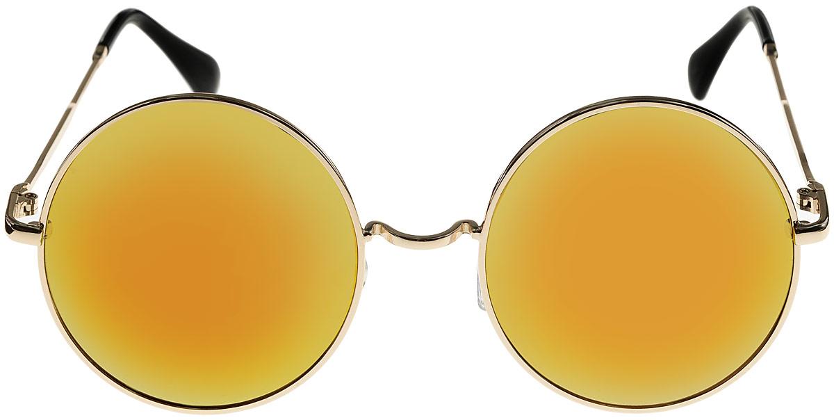 Очки солнцезащитные женские Kawaii Factory Round Mirror, цвет: желтый. KW010-000066KW010-000066Салфетка для очков и чехол в комплекте.