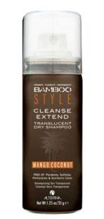 Alterna Bamboo Style Cleanse Extend Mango Coconut - Сухой спрей-шампунь для свежести и объема с ароматом манго и кокоса 40 мл48580.IСухой шампунь с ароматом манго и кокоса Alterna Bamboo Style Cleanse Extend Translucent Dry Shampoo in Mango Coconut обладает отличными абсорбирующими свойствами, хорошо впитывает жировые выделения кожи головы, остальные продукты жизнедеятельности волос, а также излишки средств для укладки волос. Шампунь Alterna не оставляет порошкообразного остатка, даже на темных волосах, при этом сохраняет и продлевает форму укладки. После применения сухого шампуня с ароматом манго и кокоса Ваши волосы становятся чистыми, свежими и готовы к дальнейшей укладке. Сухой шампунь отлично подходит как средство для достижения объема на свежевымытых волосах. Обладает удивительно приятным и чувственным ароматом манго и кокоса.