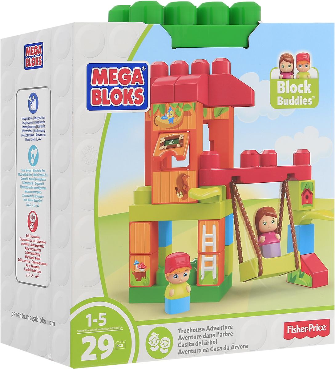 Mega Bloks Storytelling Конструктор Домик на деревеDKX85_DXH37Придумывайте невероятные истории в домике на дереве с двумя веселыми друзьями! На качелях ваш малыш сможет катать обитателей домика. Помогите им вскарабкаться на вершину и открыть окошко, чтобы посмотреть, что внутри домика! Набор включает в себя 29 разноцветных пластиковых элементов. Конструктор станет замечательным сюрпризом вашему ребенку, который будет способствовать развитию мелкой моторики рук, внимательности, усидчивости и мышления. Играя с конструктором, ребенок научится собирать детали по образцу, проводить время с пользой и удовольствием.