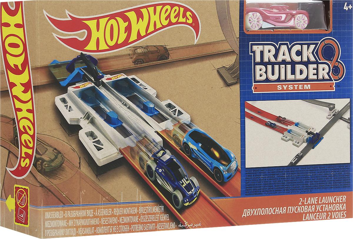 Hot Wheels Track Builder Игрушечный трек Двухполосная пусковая установкаDNH84_DJD68Игрушечный трек Hot Wheels Двухполосная пусковая установка - это небольшая гоночная трасса серии Track Builder, отличный подарок для каждого мальчишки! На ней можно запускать сразу две машинки - устраивайте заезды и соревнуйтесь с друзьями! В комплект входит машинка Hot Wheels, выполненная из высококачественных материалов, безопасных для здоровья ребенка. Автомобиль ударопрочный и долговечный - а значит, вы сможете устраивать головокружительные гонки снова и снова!