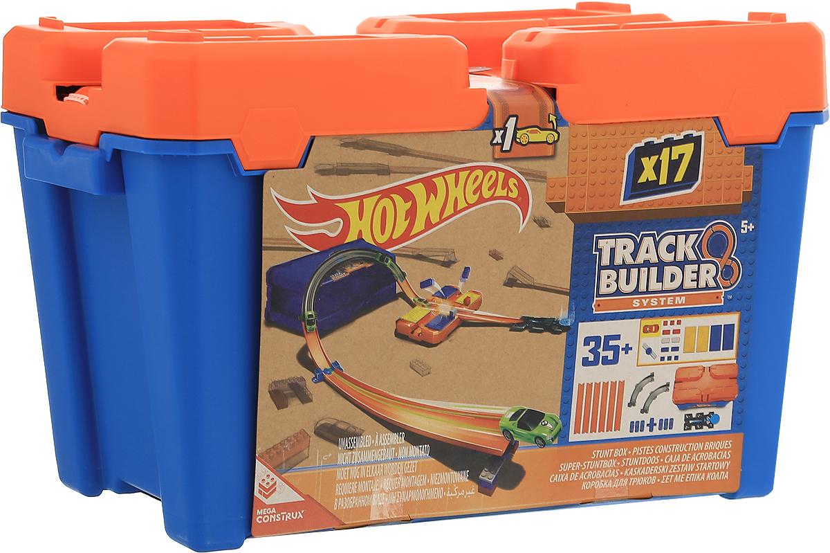 Hot Wheels Track Builder Игрушечный трек Стартовый набор для трюковDWW95Игрушечный трек Hot Wheels Стартовый набор для трюков включает в себя дорожки трека, соединители, пускатели, пандусы, несколько разъемов, сплит-петлю, поворот на 90 градусов, а также новые кубики, которые имеют множество крутых вариантов комбинаций и добавят игре еще большего запала. Помимо всего этого в набор включена машинка Hot Wheels. Упаковка элементов трека также служит элементом игры и одновременно удобным контейнером для хранения деталей. Этот впечатляющий набор является отличным способом, чтобы начать свою коллекцию Builder Track!