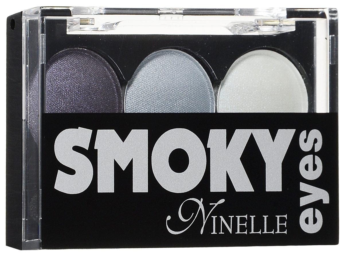 Ninelle Тени для век Smoky eyes, 3 цвета, тон №25, 3х0,8 г648N10367Тени для век Ninelle Smoky eyes представляют собой коктейль из 3-х великолепно сочетающихся оттенков, которые подчеркивают загадочную глубину взгляда. Тени для век Ninelle  Smoky eyes  обладают шелковистой текстурой из микронизированных пигментов, обеспечивающей нежное нанесение на веко и создание мягких переходов между тонами. Благодаря сочетанию особой текстуры теней и четырех гармоничных оттенков можно добиться исключительно эффектной игры тени и света, тем самым подчеркнув глубину чувственного взгляда. Каждая комбинация теней состоит из матовых и атласных (сатиновых) текстур с разным содержанием перламутровых пигментов (от легких переливающихся перламутровых, до абсолютно матовых), которые идеально подходят для всех возрастов и типов кожи (в том числе и для зрелой). Такое сочетание текстур делает каждую комбинацию универсальной. Шикарные палитры теней позволяют легко создавать яркий и выразительный макияж, придавая глазам необычайную выразительность и...