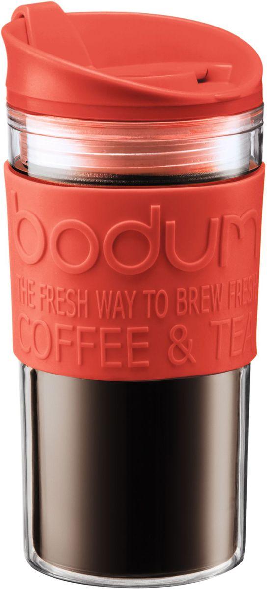 Кружка дорожная Bodum Travel, цвет: красный, 350 мл. A11103-137-Y16A11103-137-Y16