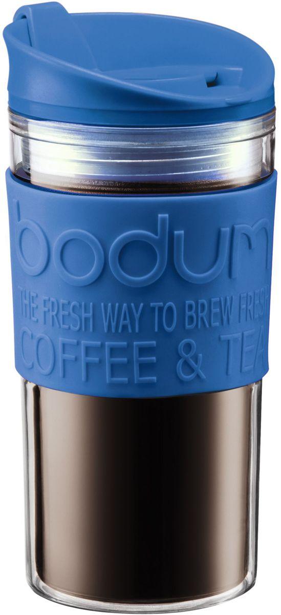 Кружка дорожная Bodum Travel, цвет: синий, 350 мл. A11103-140-Y16A11103-140-Y16