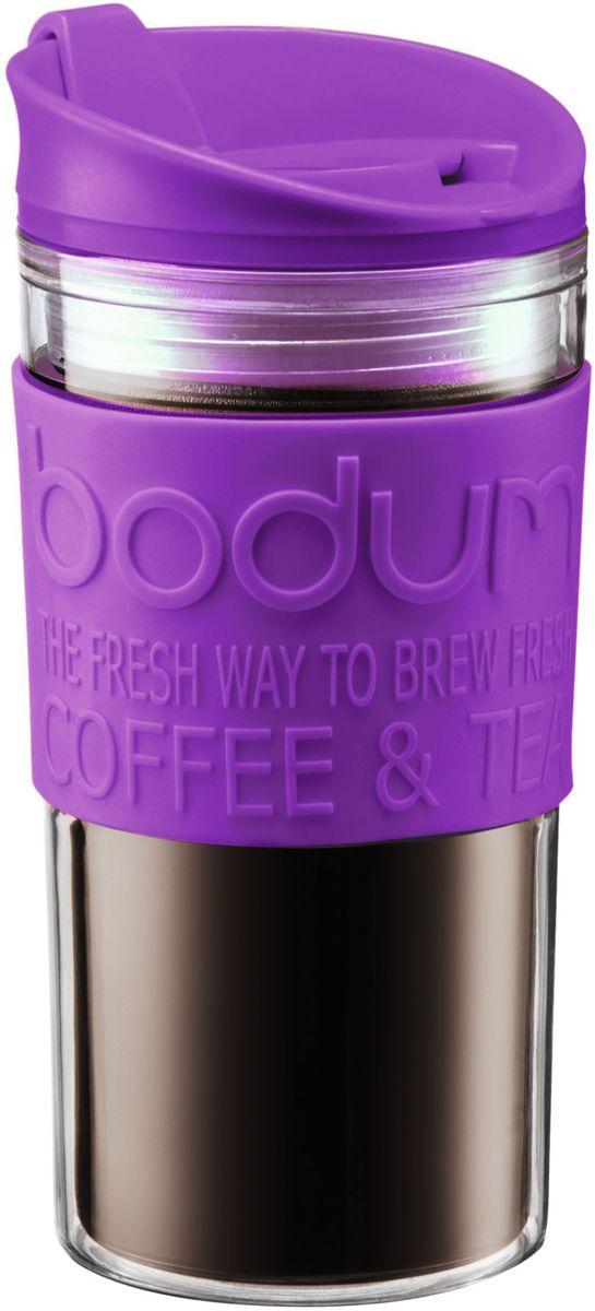Кружка дорожная Bodum Travel, цвет: фиолетовый, 350 мл. A11103-150-Y16A11103-150-Y16