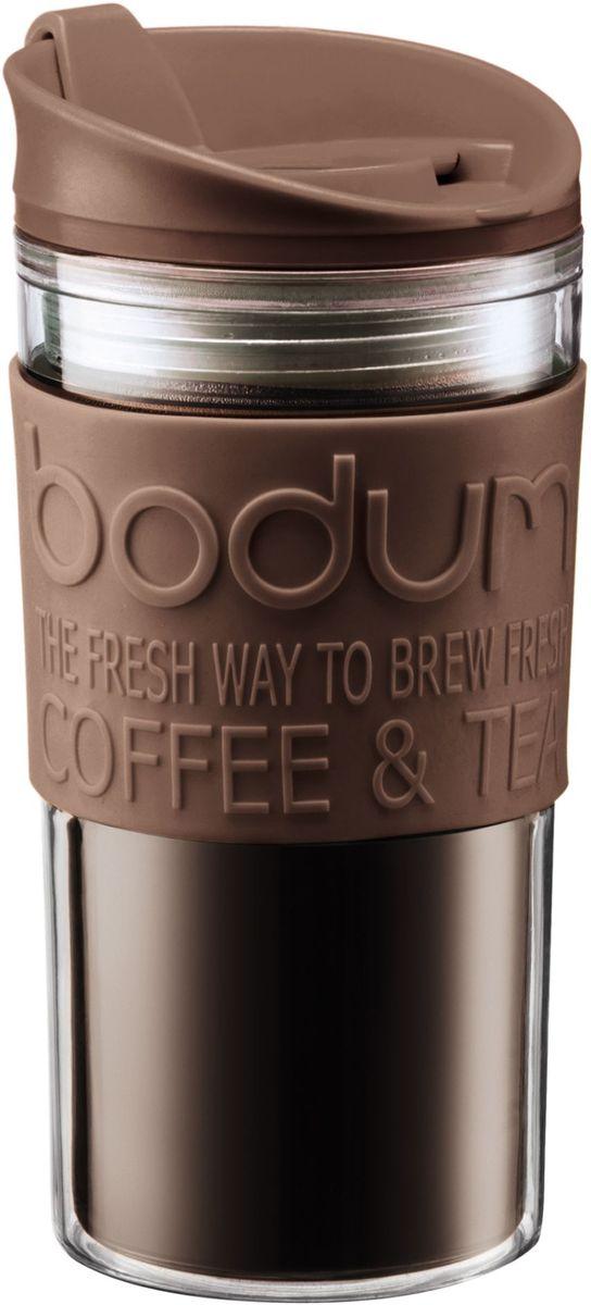 Кружка дорожная Bodum Travel, цвет: коричневый, 350 мл. A11103-618-Y16A11103-618-Y16