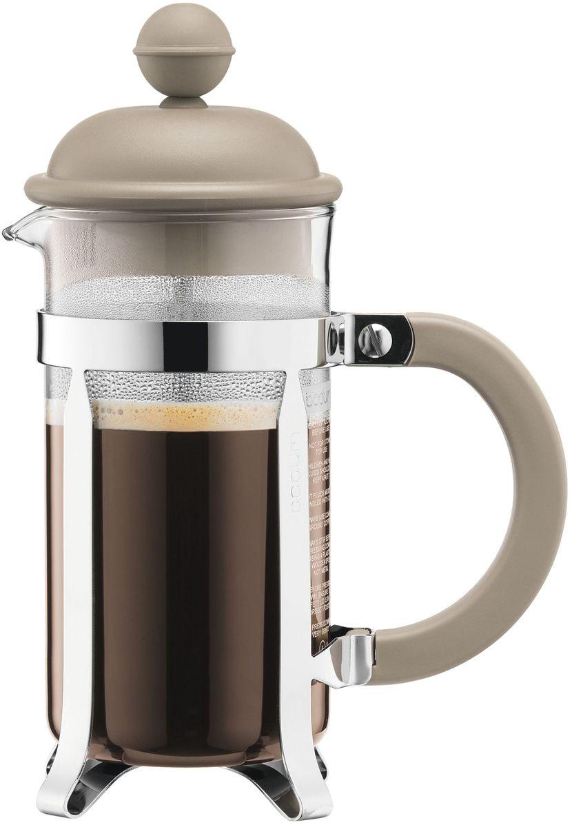 Кофейник с прессом Bodum Caffettiera, цвет: песочный, 350 мл. A1913-133-Y16A1913-133-Y16