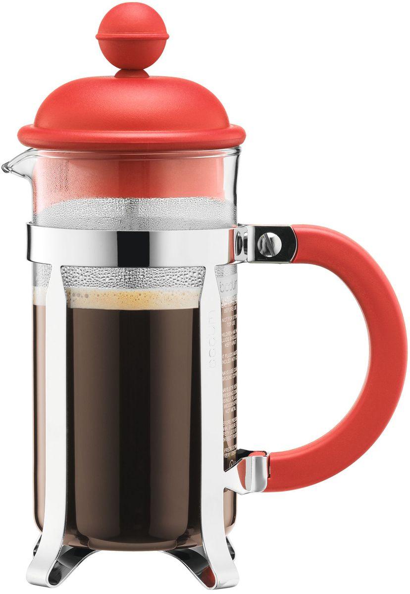 Кофейник с прессом Bodum Caffettiera, цвет: красный, 350 мл. A1913-137-Y16A1913-137-Y16